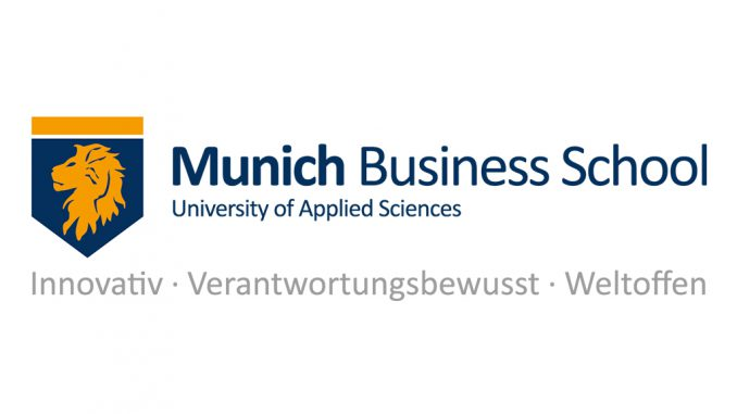Munich Business School Logo with our Vision Claim