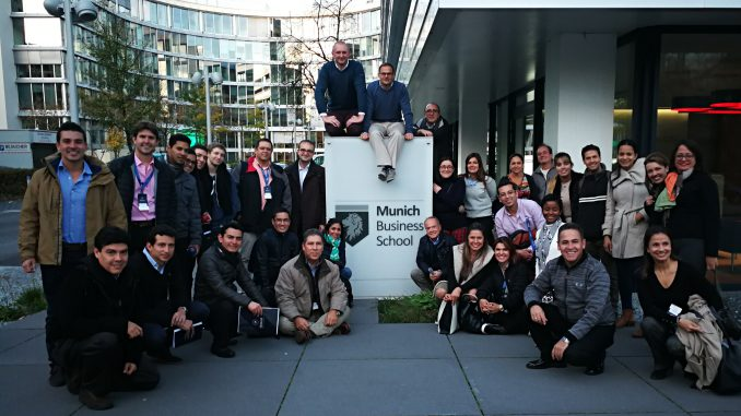 A group of family entrepreneurs and top managers from Latin America visited the Courage Center at Munich Business School