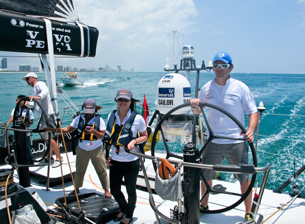 Pro-Am race with sponsors in Miami (Mike Marqués as helmsman)