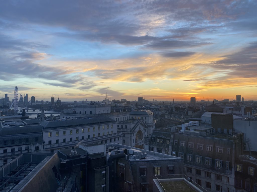 View from the LSE campus over London
