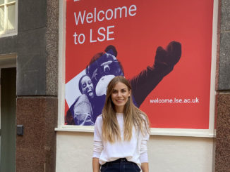 Linda at the LSE campus