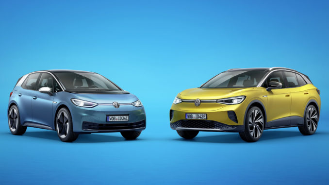 The new Volkswagen ID.3 and ID.4