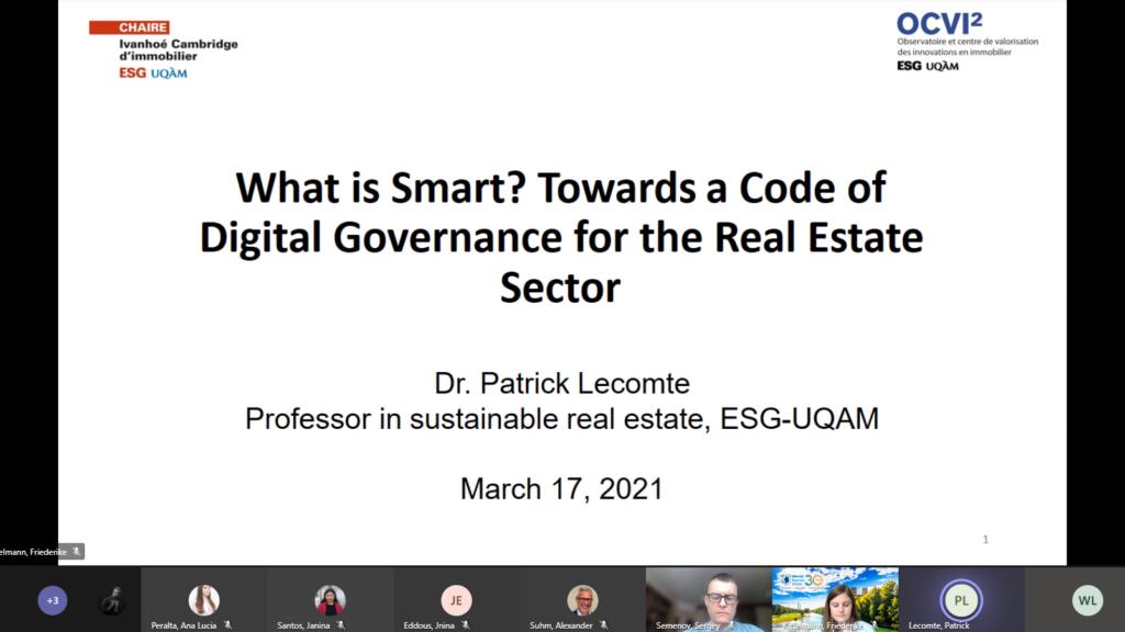 Presentation of Professor Lecomte