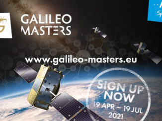 Picture of a satellite system with the competition information