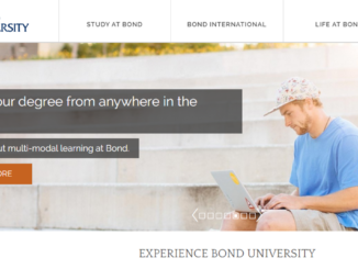 Screenshot of the Bond University website